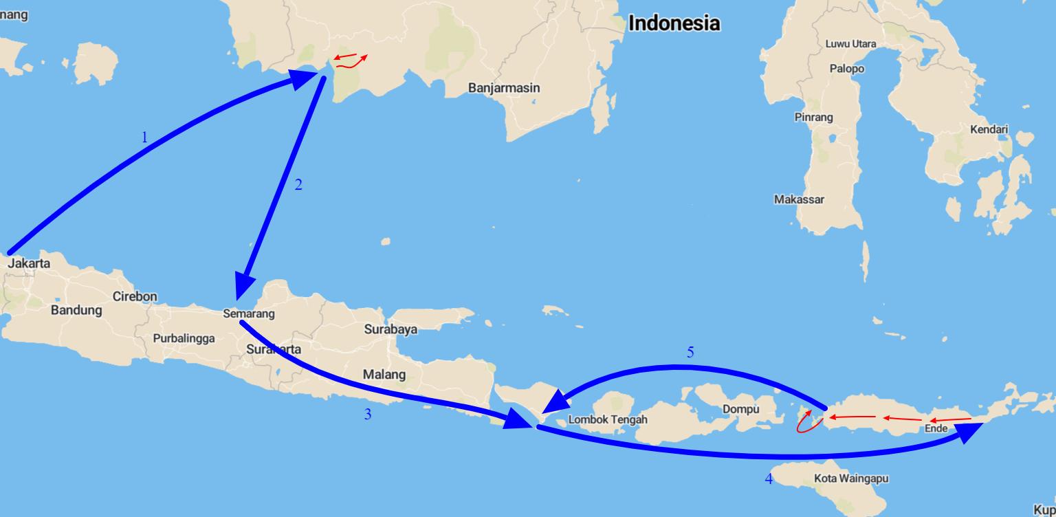 kaart indonesië