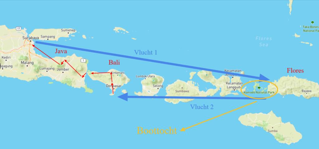 groepsreis Indonesië Kaart