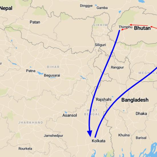 india bhutan reis