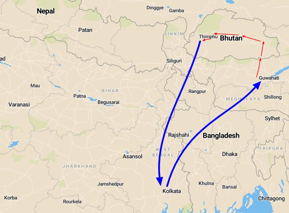 Bhutan privé reis