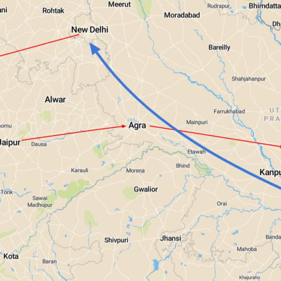 noord india kaart