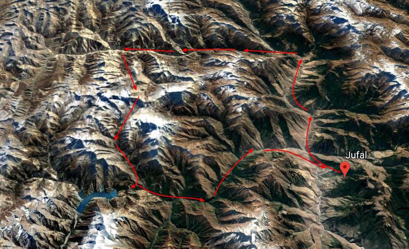 lower dolpo trekking kaart