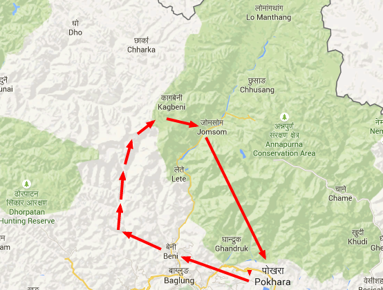 trekking dhaulagiri map