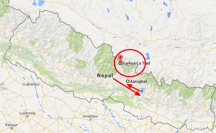 larkya peak kaart