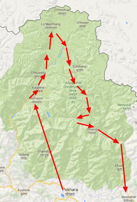 saribung peak climbing kaart