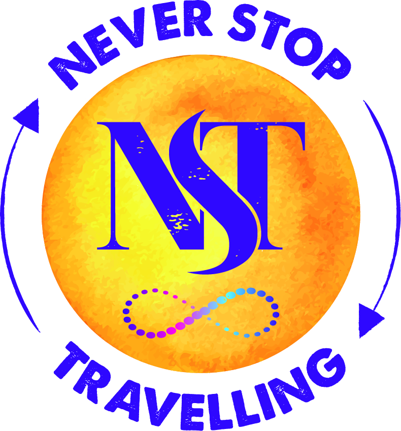 never stop travelling logo