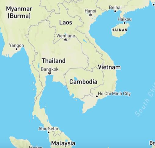 individuele reis Thailand kaart