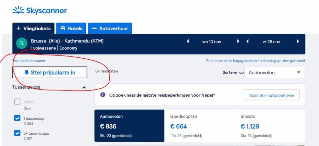 goedkope vliegtuigtickets